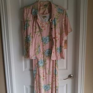 Hawaiian floral maxi dress